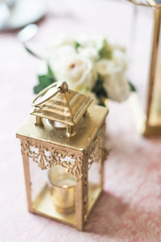 Decor - Gold Lantern - Main Street Weddings & Events