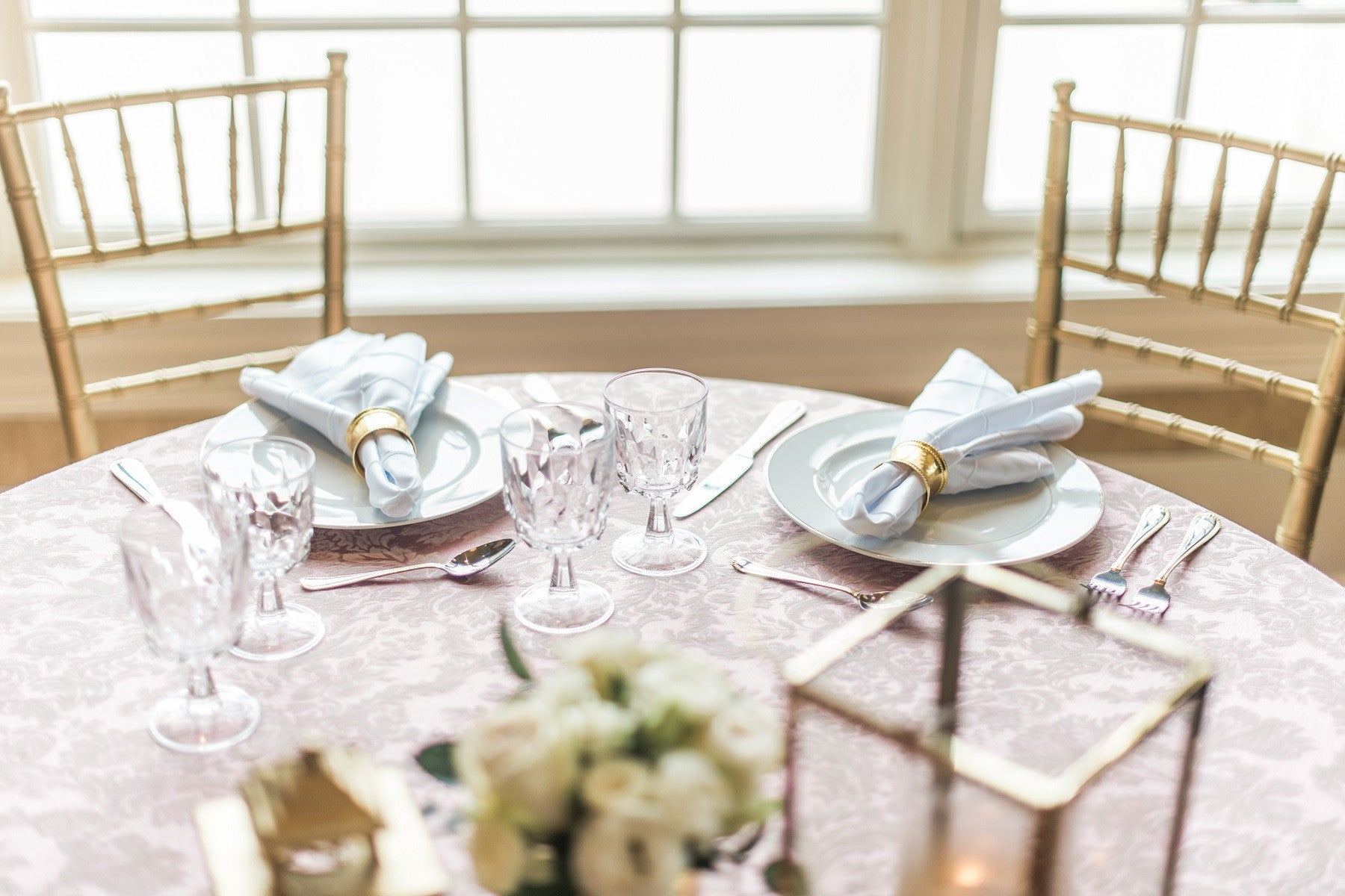 Linen - English Rose Damask - Main Street Weddings & Events