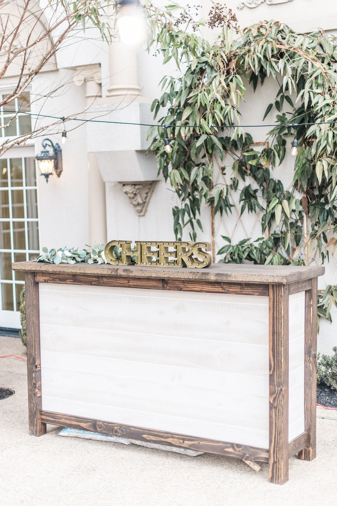 Table - Wooden Bar - Main Street Weddings & Events