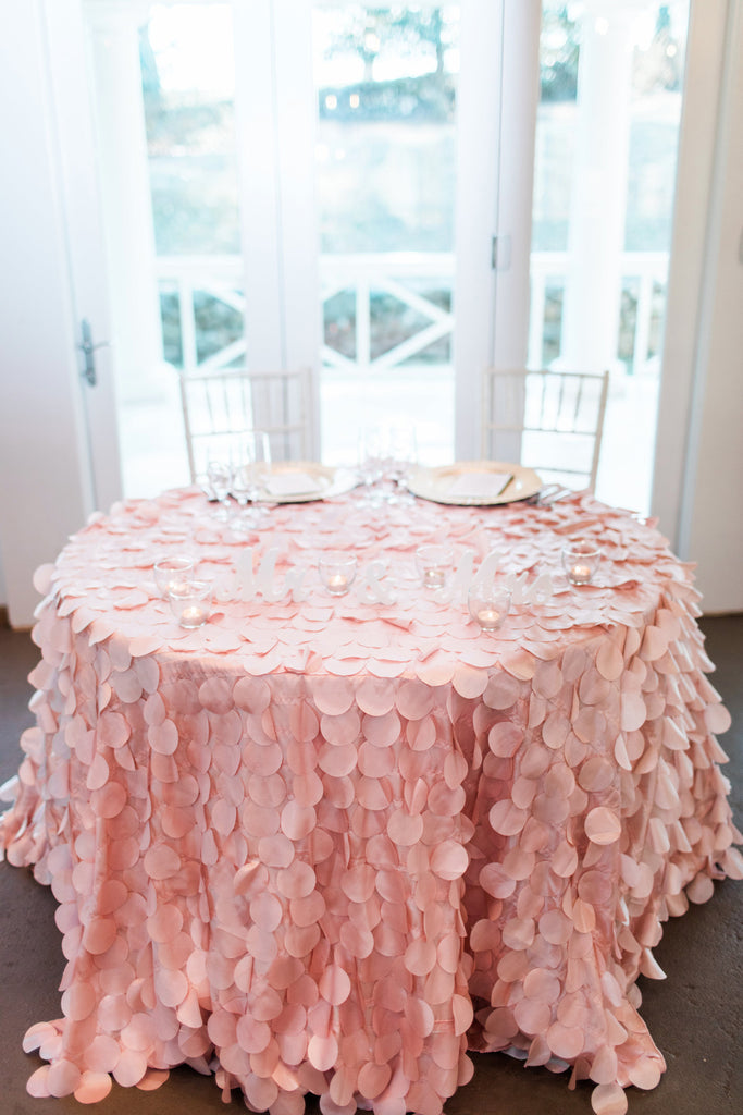 Linen - Blush Petals - Main Street Weddings & Events