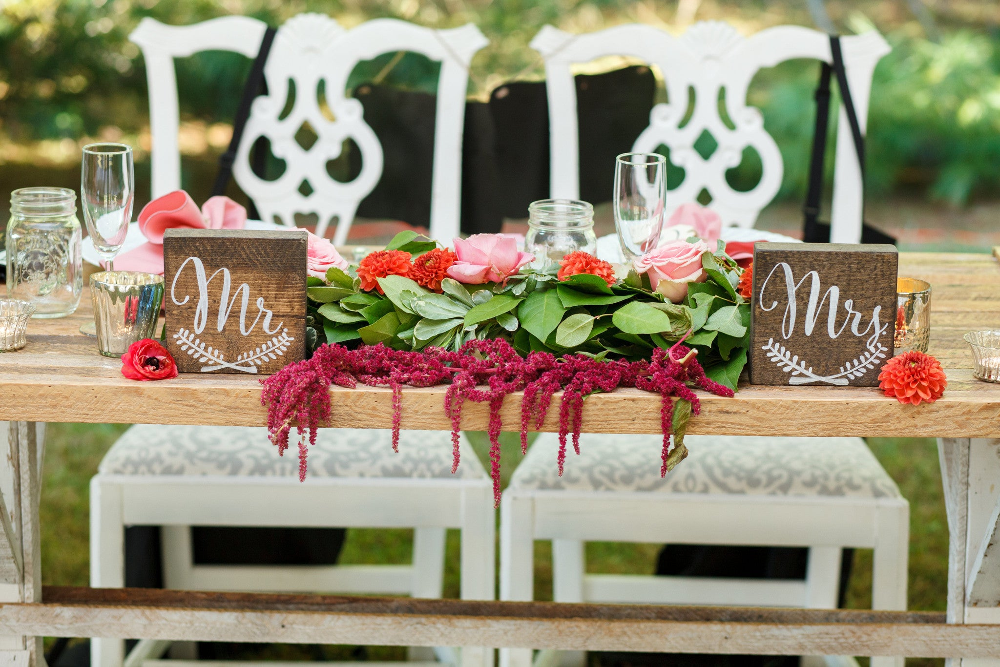 Table - Rustic Sweetheart Table - Main Street Weddings & Events