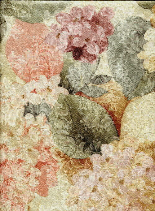 Linen - Hydrangea Coral Print - Main Street Weddings & Events