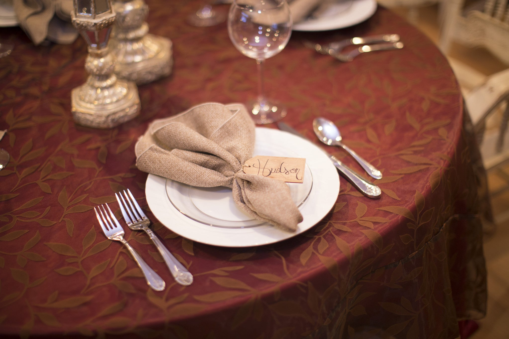 Linen - Brown Shenandoah Sheer - Main Street Weddings & Events