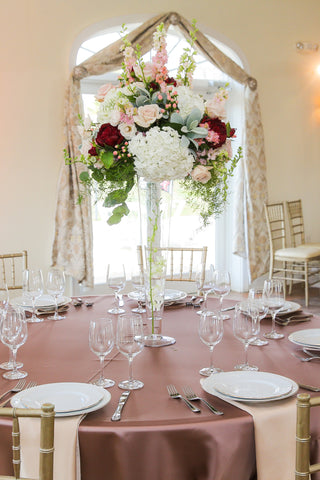 Linen - Rose Taupe Matte Satin - Main Street Weddings & Events