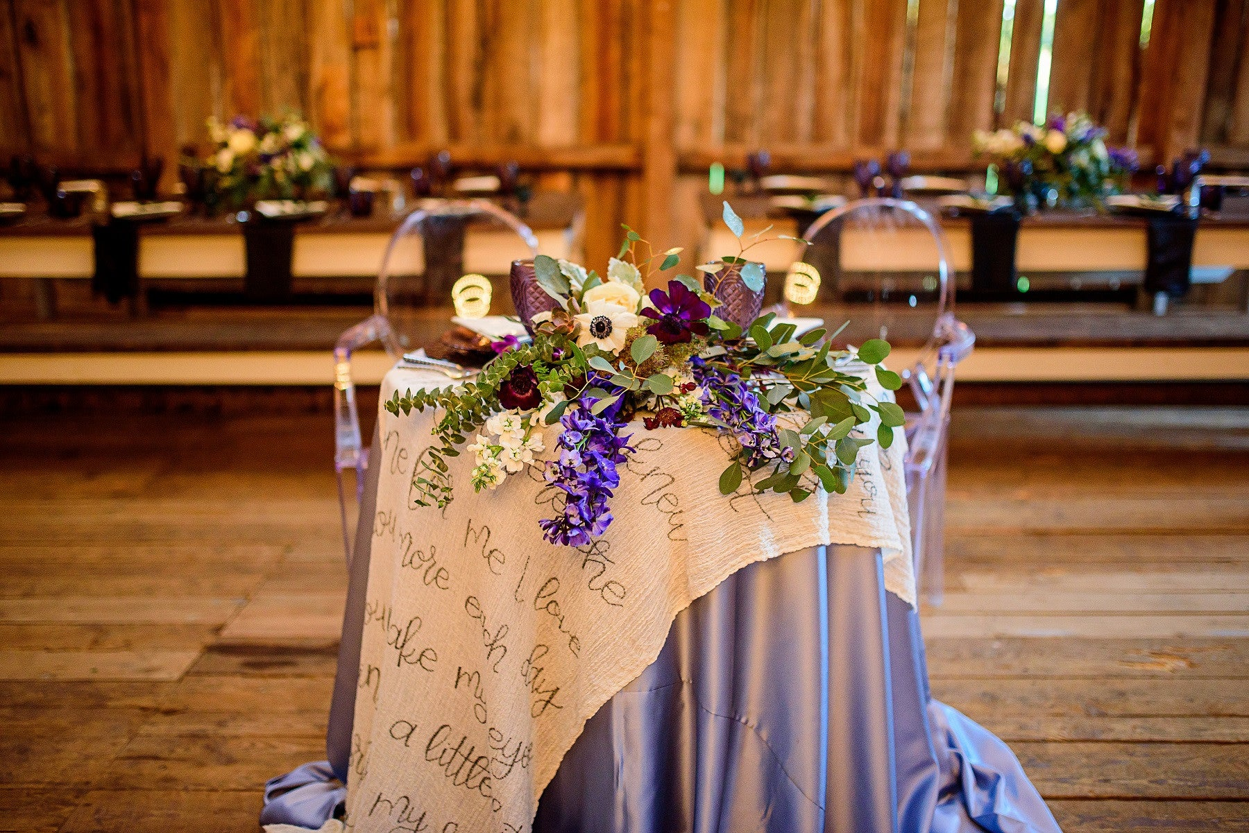 Linen - Steel Blue Matte Satin - Main Street Weddings & Events