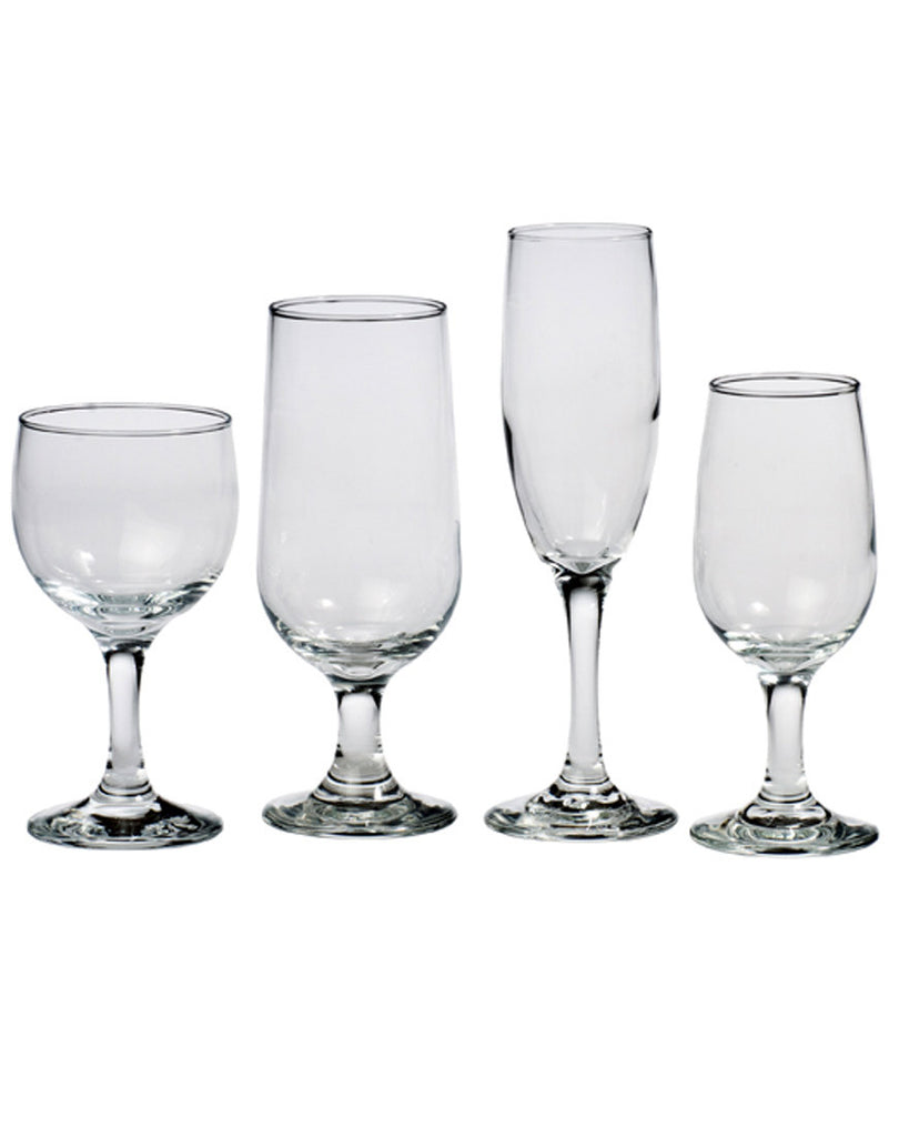 Tabletop - All Purpose Glassware - Main Street Weddings & Events
