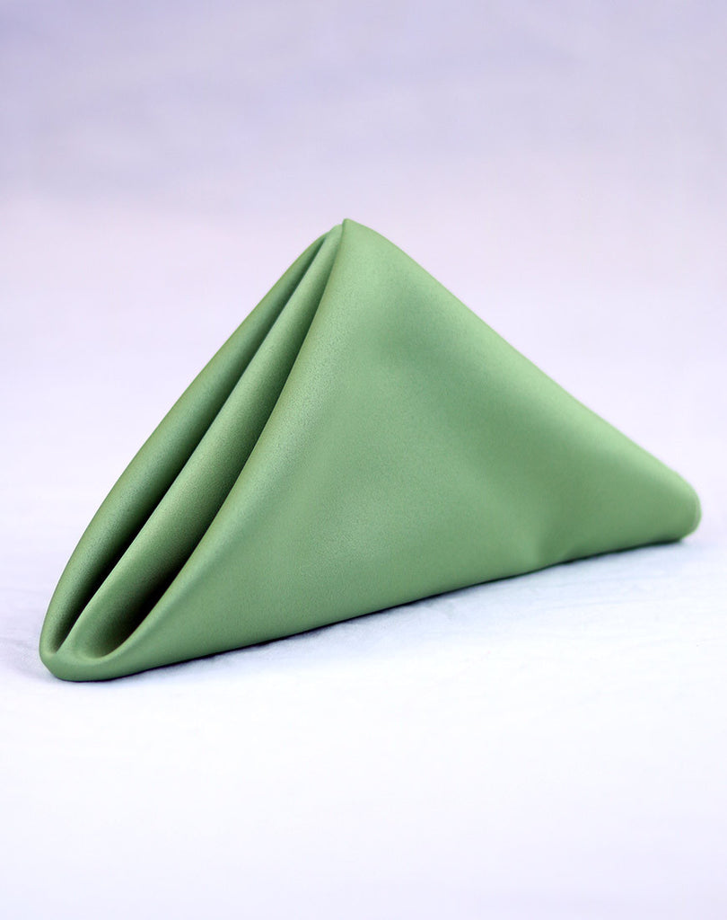 Linen - Apple Green Matte Satin - Main Street Weddings & Events