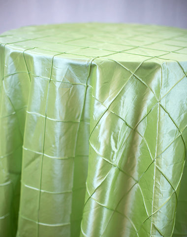 Linen - Apple Green Pintuck - Main Street Weddings & Events