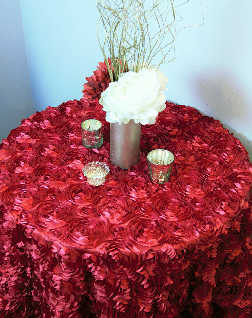 Linen - Apple Red Rosette - Main Street Weddings & Events