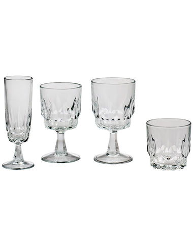 Tabletop - Artic Glassware - Main Street Weddings & Events