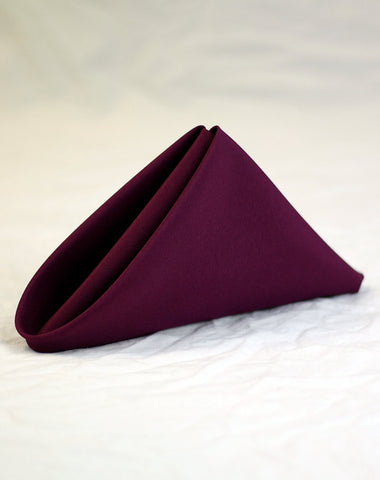 Linen - Aubergine Basic - Main Street Weddings & Events