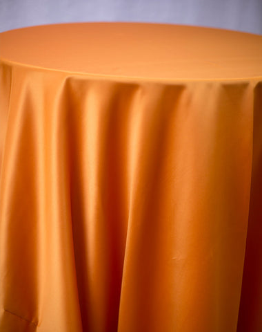 Linen - Autumn Orange Matte Satin - Main Street Weddings & Events