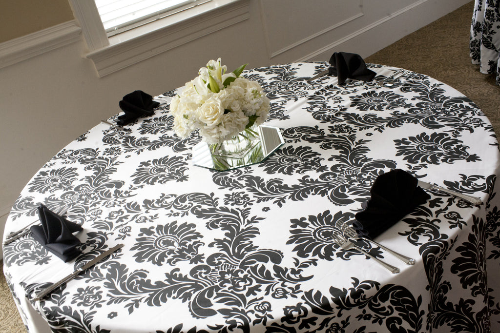 Linen - Moonlight Damask - Main Street Weddings & Events