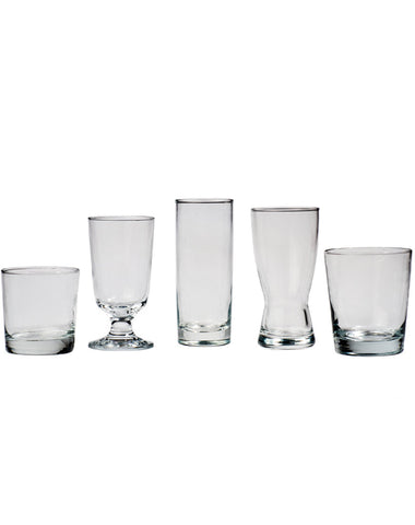 Tabletop - Bar Glassware - Main Street Weddings & Events