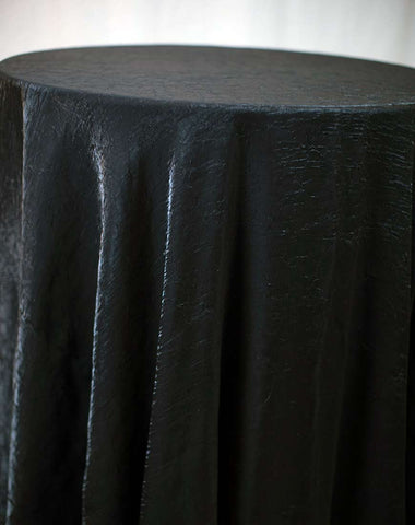 Linen - Black Crushed Satin - Main Street Weddings & Events