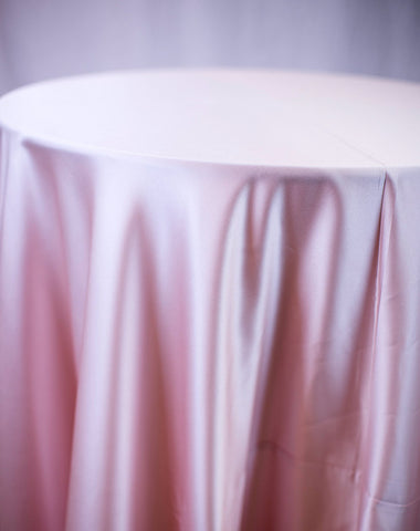 Linen - Blush Matte Satin - Main Street Weddings & Events