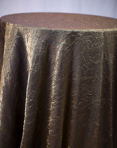 Linen - Bronze Crushed Satin - Main Street Weddings & Events