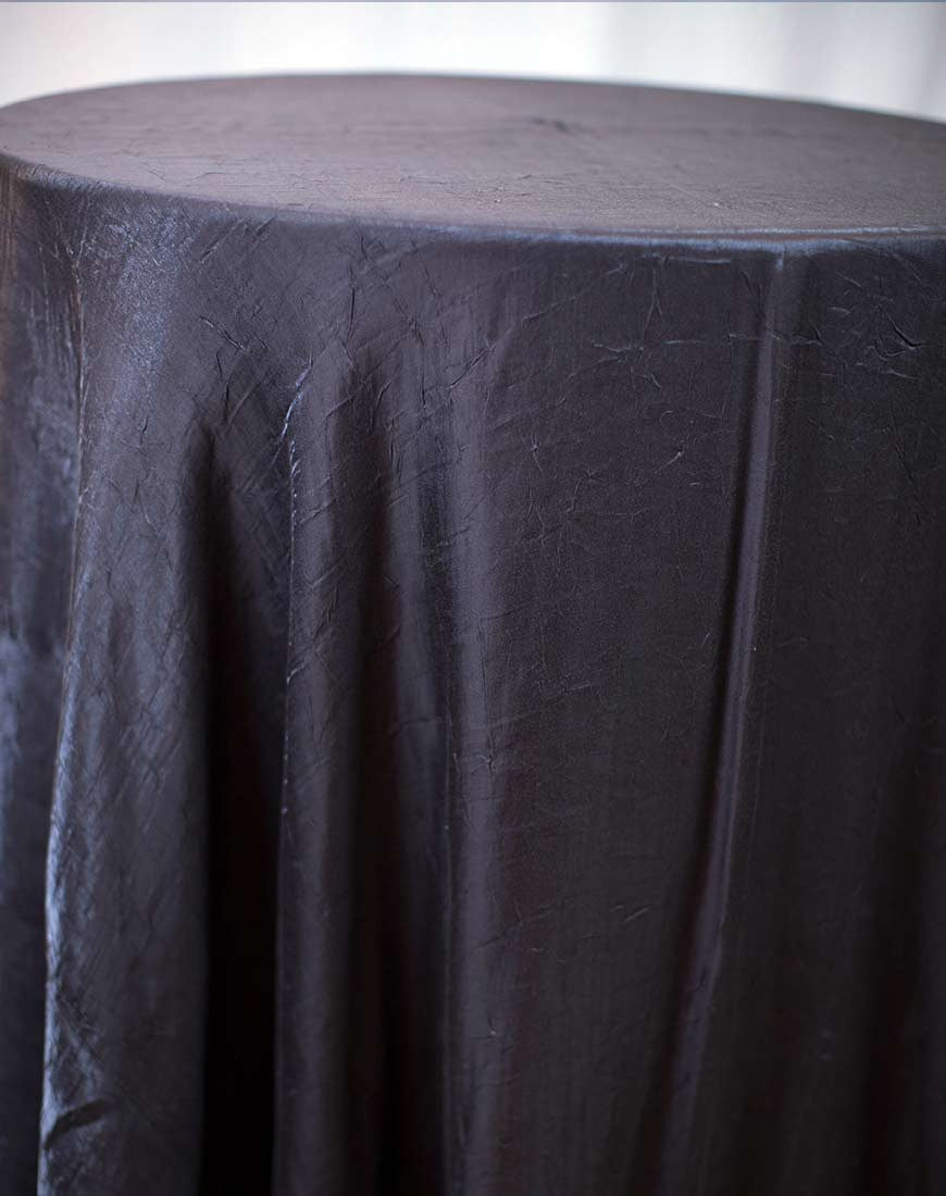 Linen - Brown Crushed Satin - Main Street Weddings & Events