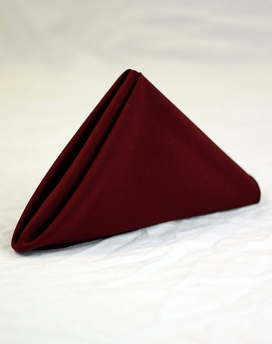 Linen - Burgundy Basic - Main Street Weddings & Events