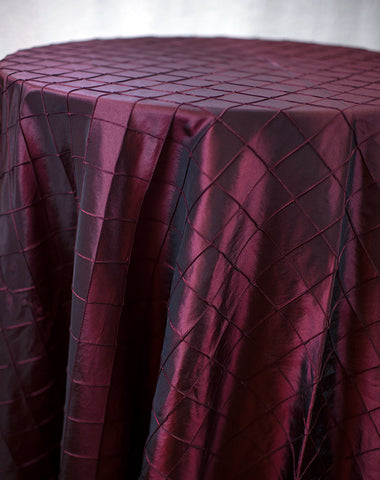 Linen - Burgundy Pintuck - Main Street Weddings & Events