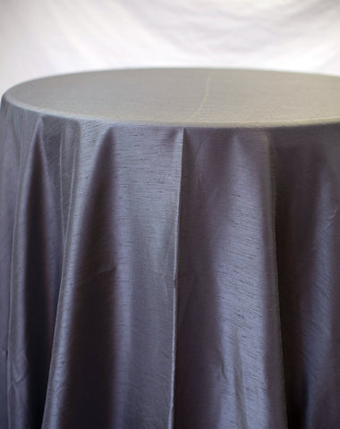 Linen - Charcoal Shantung - Main Street Weddings & Events