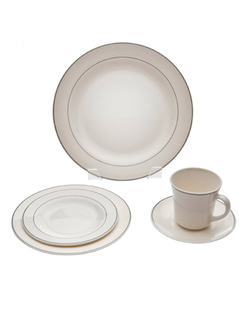 Tabletop - Platinum Rim China - Main Street Weddings & Events