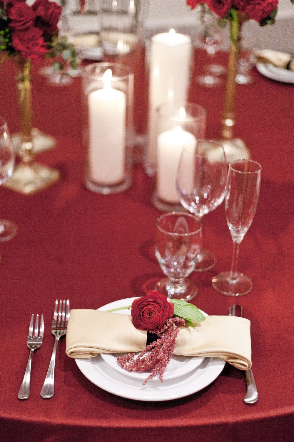 Linen - Merlot Matte Satin - Main Street Weddings & Events