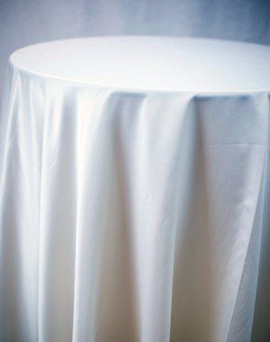 Linen - Dark Ivory Matte Satin - Main Street Weddings & Events
