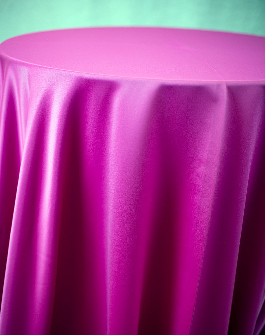 Linen - Fuchsia Matte Satin - Main Street Weddings & Events