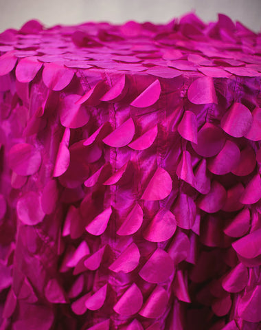 Linen - Fuchsia Petals - Main Street Weddings & Events