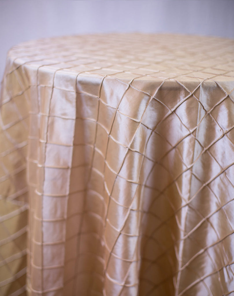 Linen - Gold Pintuck - Main Street Weddings & Events