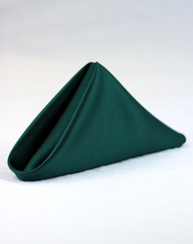 Linen - Hunter Green Matte Satin - Main Street Weddings & Events
