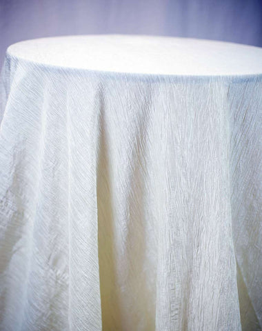 Linen - Ivory Accordion Taffeta - Main Street Weddings & Events