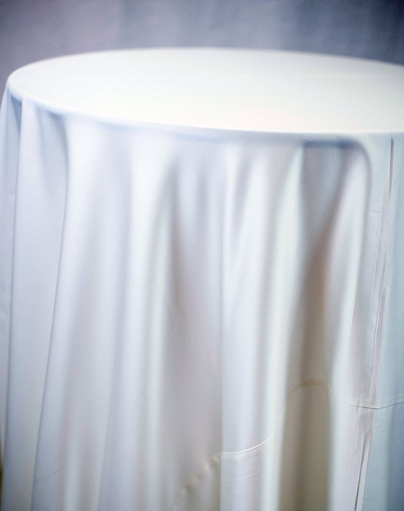 Linen - Ivory Matte Satin - Main Street Weddings & Events