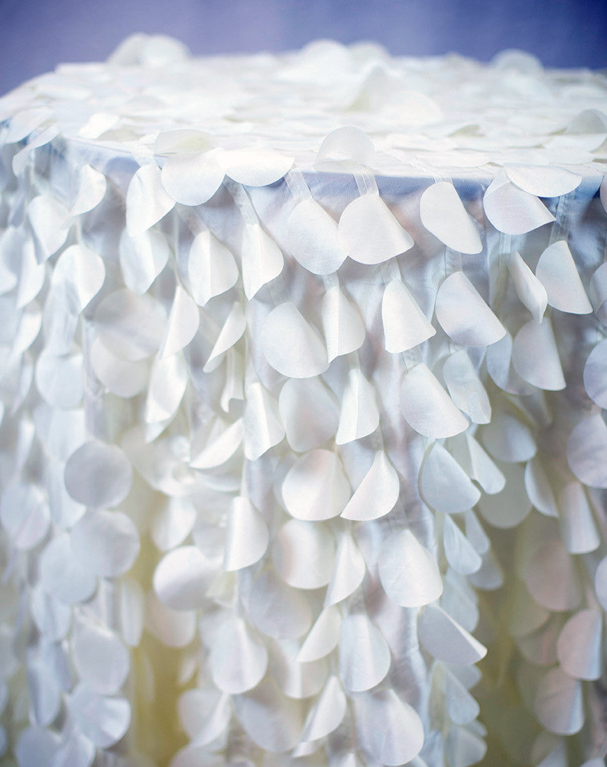 Linen - Ivory Petals - Main Street Weddings & Events