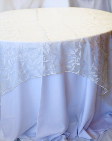 Linen - Ivory Shenandoah Sheer - Main Street Weddings & Events