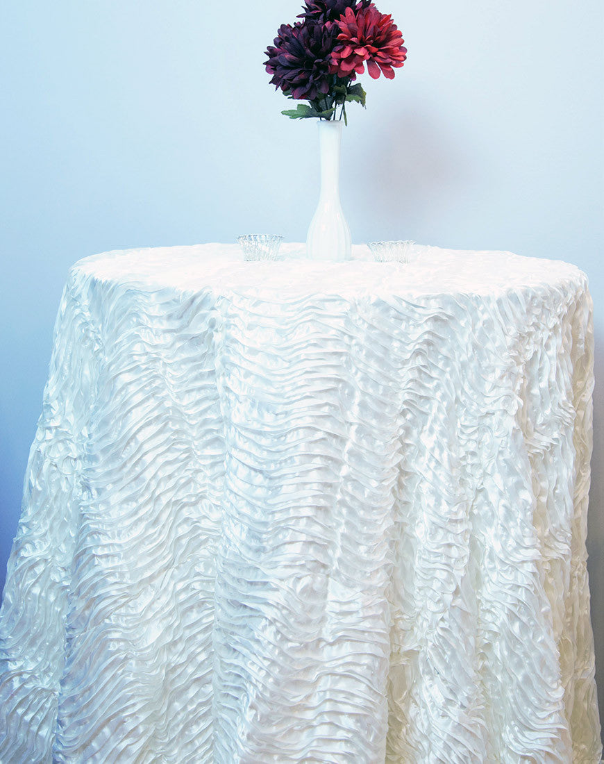 Linen - Ivory Waves - Main Street Weddings & Events