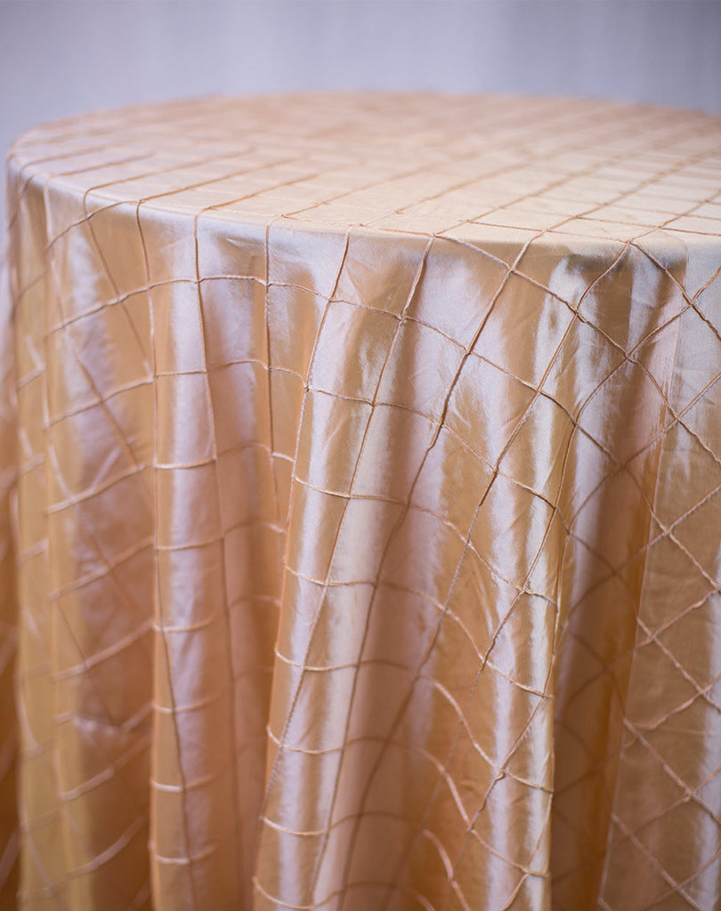 Linen - Light Copper Pintuck - Main Street Weddings & Events