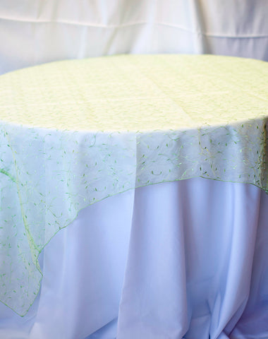 Linen - Lime Sheer Vines - Main Street Weddings & Events