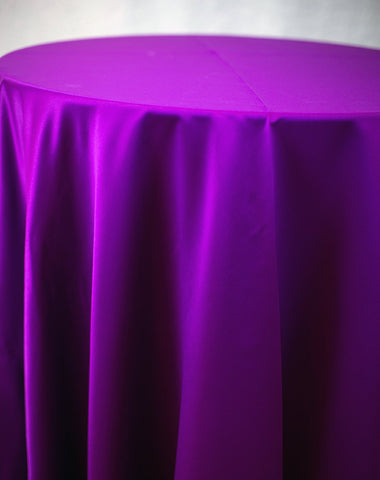 Linen - Magenta Matte Satin - Main Street Weddings & Events