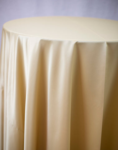 Linen - Maize Matte Satin - Main Street Weddings & Events
