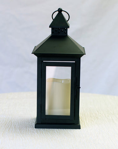 Decor - Medium Black Lantern - Main Street Weddings & Events