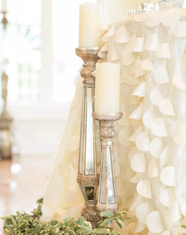 Decor - Mirrored Pillars - Main Street Weddings & Events
