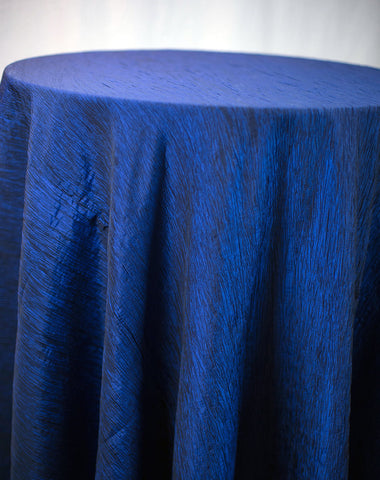 Linen - Navy Accordion Taffeta - Main Street Weddings & Events