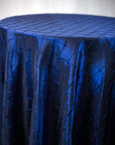Linen - Navy Blue Pintuck - Main Street Weddings & Events