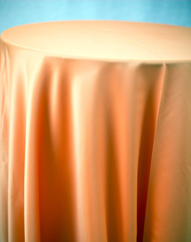 Linen - Orange Matte Satin - Main Street Weddings & Events