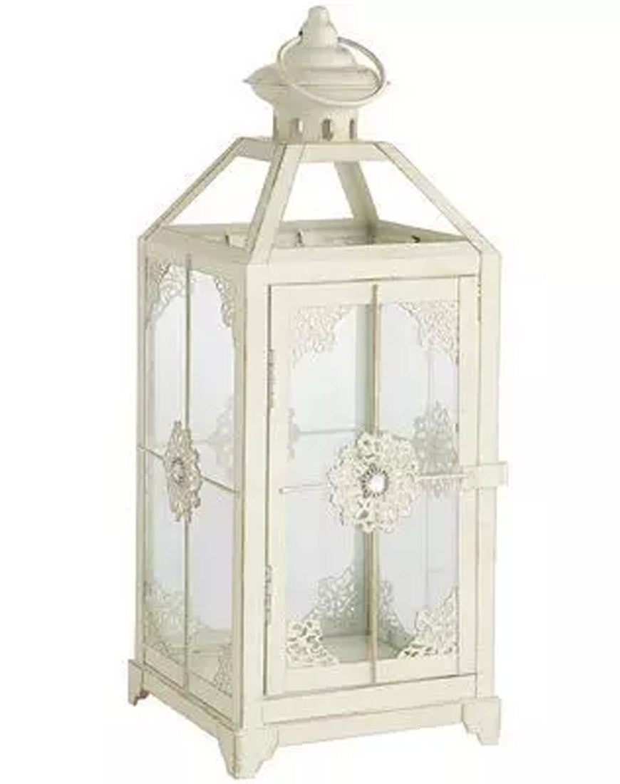 Decor - Ornate White Lantern - Main Street Weddings & Events