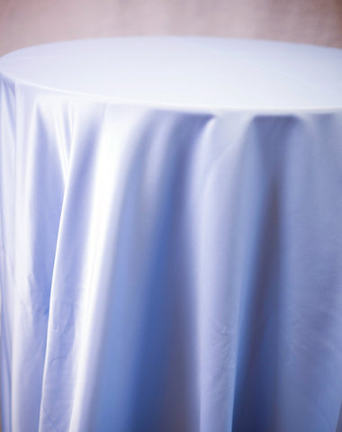 Linen - Pale Blue Matte Satin - Main Street Weddings & Events