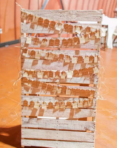 Decor - Pallet Escort Card Display - Main Street Weddings & Events