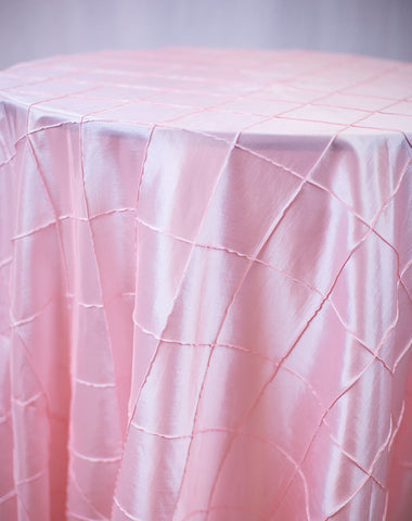 Linen - Pink Pintuck - Main Street Weddings & Events